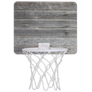 Lantlig riden ut Wood vägg Mini-Basketkorg