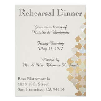 Lantlig romansk repetition middaginbjudan för 10,8 x 14 cm inbjudningskort