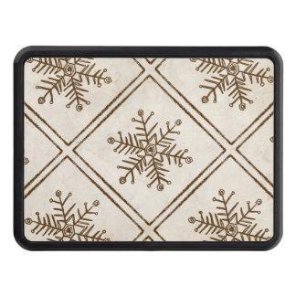 Lantlig Snowflake för vintage Dragkroksskydd