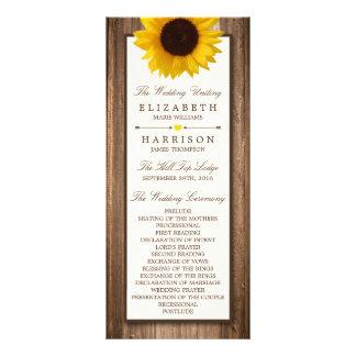Lantlig solros för land & Wood bröllop för brunt Reklamkort