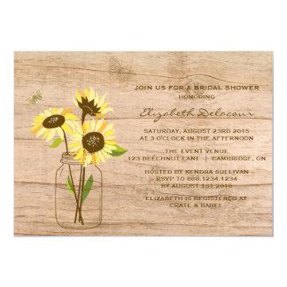 Lantlig solrosinbjudningskort för möhippan 12,7 x 17,8 cm inbjudningskort