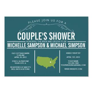 Lantlig statlig bröllopinbjudan för land 12,7 x 17,8 cm inbjudningskort