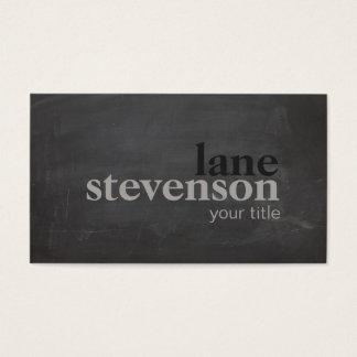 Lantlig svart för enkel och modern djärv typografi visitkort