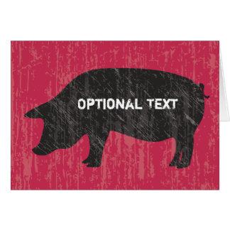 Lantlig svart gris OBS kort