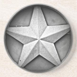 Lantlig Texas Lonestar sandstenkustfartyg Glasunderlägg I Sandsten