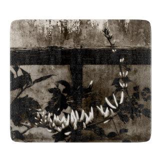 Lantlig trädgårds- blommigt i Sepia