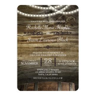 Lantlig vinodlingbröllopinbjudan 12,7 x 17,8 cm inbjudningskort