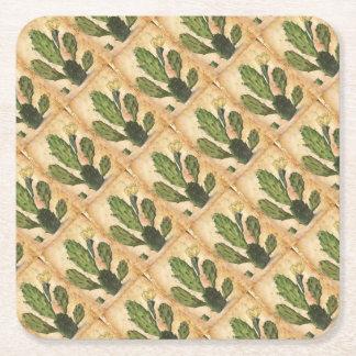 lantlig vintage för kaktus underlägg papper kvadrat
