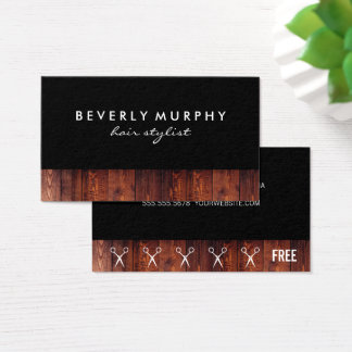 Lantlig Wood saxlogotyp (lojaliteten) Visitkort