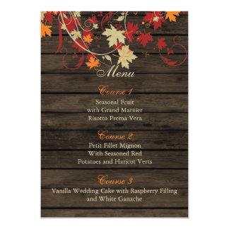 Lantliga Barnwood, höst löv bröllopmenykort 12,7 X 17,8 Cm Inbjudningskort
