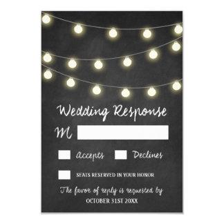 Lantliga bröllop OSAkort för svart tavla och för 8,9 X 12,7 Cm Inbjudningskort