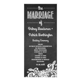 Lantliga bröllopsprogram för svart tavla och för reklamkort