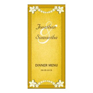Lantliga guld- blom- kort för meny för
