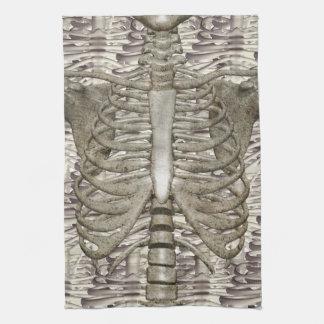 Lantliga Halloween skelett- Ribcage kökshanddukar
