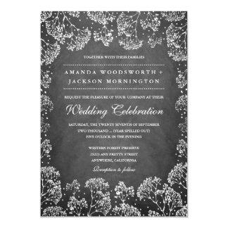 Lantliga inbjudningar för bröllop för svart
