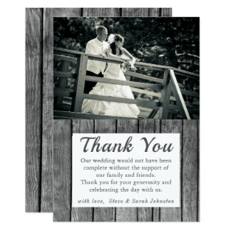 Lantliga kort för bröllopfototack 12,7 x 17,8 cm inbjudningskort