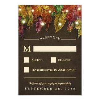 Lantliga kort för nedgånghöst lövbröllop OSA 8,9 X 12,7 Cm Inbjudningskort