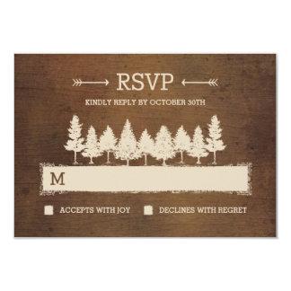 Lantliga kort för skogsmarkOSA/Wedding svar 8,9 X 12,7 Cm Inbjudningskort