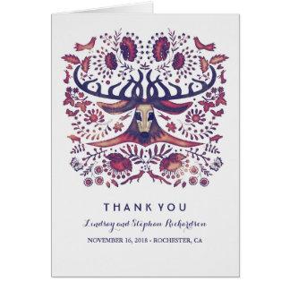 Lantliga kort för tack för bröllop för
