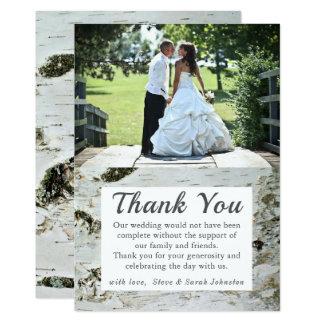 Lantliga kort för tack för foto för 12,7 x 17,8 cm inbjudningskort