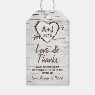Lantliga märkre för tack för bröllop för presentetikett