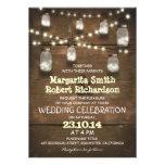 lantliga masonburkar och ljusa bröllopinbjudningar tillkännagivande