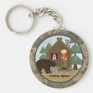 Lantliga nycklar för logeCamo kabin med björnen Rund Nyckelring