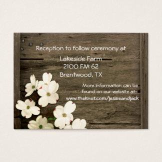Lantliga staket- & Dogwoodblom som gifta sig Visitkort