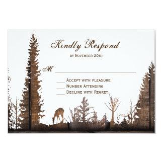 Lantliga Wood kort för bröllop OSA för 8,9 X 12,7 Cm Inbjudningskort