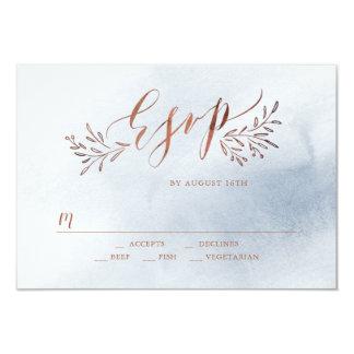 Lantligt blom- bröllop OSA för dammig 8,9 X 12,7 Cm Inbjudningskort
