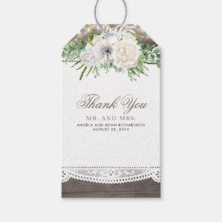 Lantligt blom- bröllop presentetikett
