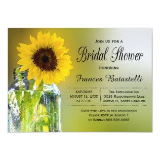 Lantligt bröllop för möhippa för solrosMasonburk 11,4 X 15,9 Cm Inbjudningskort