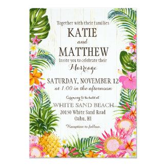 Lantligt bröllop Luau för hawaiansk strand 12,7 X 17,8 Cm Inbjudningskort