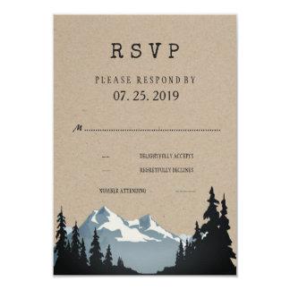 Lantligt bröllop OSA för bergskogsmarkskog 8,9 X 12,7 Cm Inbjudningskort