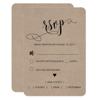 Lantligt bröllop OSAkort 8,9 X 12,7 Cm Inbjudningskort