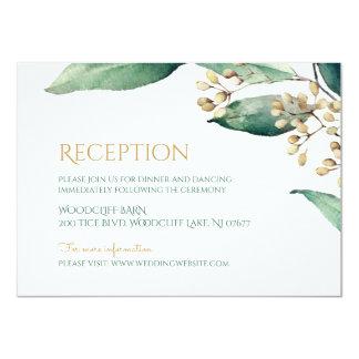 Lantligt bröllopmottagande för modern botanisk 11,4 x 15,9 cm inbjudningskort