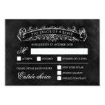Lantligt chic bröllop OSAkort - svart Anpassningsbara Tillkännagivanden