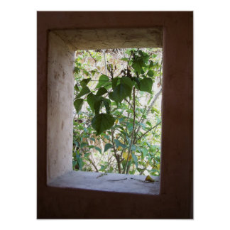 Lantligt fönster poster