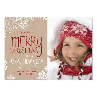 Lantligt fotokort för god jul  Holiday 12,7 X 17,8 Cm Inbjudningskort