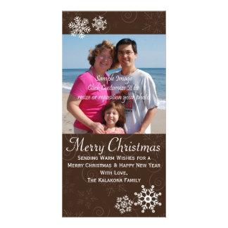 Lantligt kort 4x8 för foto för julhelgdagSnowflake