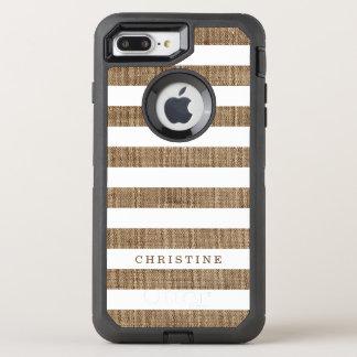 Lantligt land görat randig namn för OtterBox defender iPhone 7 plus skal