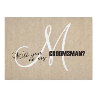 Lantligt linnekanfasbröllop är min 12,7 x 17,8 cm inbjudningskort
