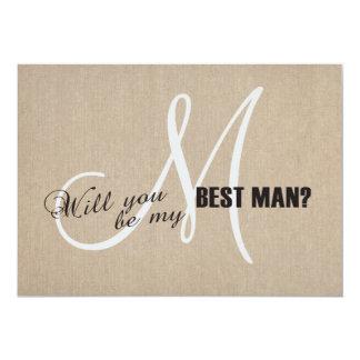 Lantligt linnekanfasbröllop är min bäst 12,7 x 17,8 cm inbjudningskort