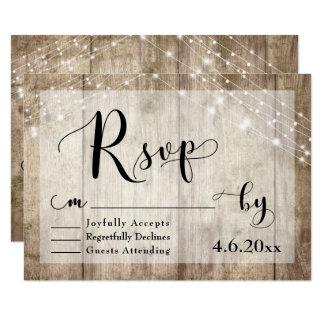 Lantligt ljust - brunt trä- & ljusbröllop OSA 3 8,9 X 12,7 Cm Inbjudningskort