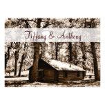 Lantligt logga kabingrästräd som gifta sig inbjudn