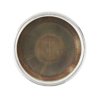 Lantligt monogramslag för metall T klämmer fast Kavajnål