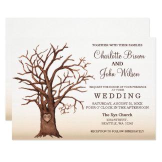 Lantligt sniden initial bröllopinbjudan för 12,7 x 17,8 cm inbjudningskort