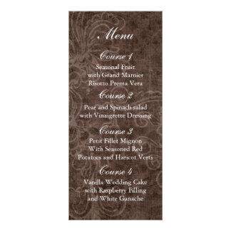 Lantligt snöre slåget in Masonburkbröllop Reklamkort