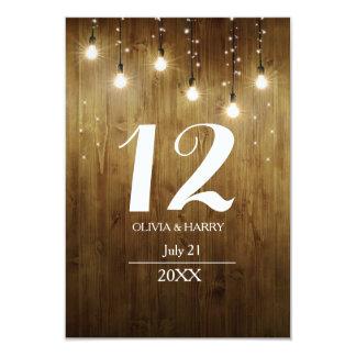 Lantligt stränga av kort för ljuslandbordsnummer 8,9 x 12,7 cm inbjudningskort