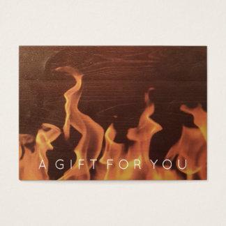 Lantligt trä avfyrar den | restaurangpresentkortet visitkort